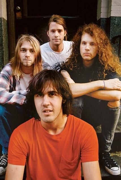 The Nirvana lineup that never was: July 1989. Chad Channing at top Jason Everman next to Kurt.