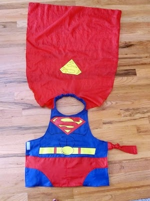 superman costume - easy on and easy off!