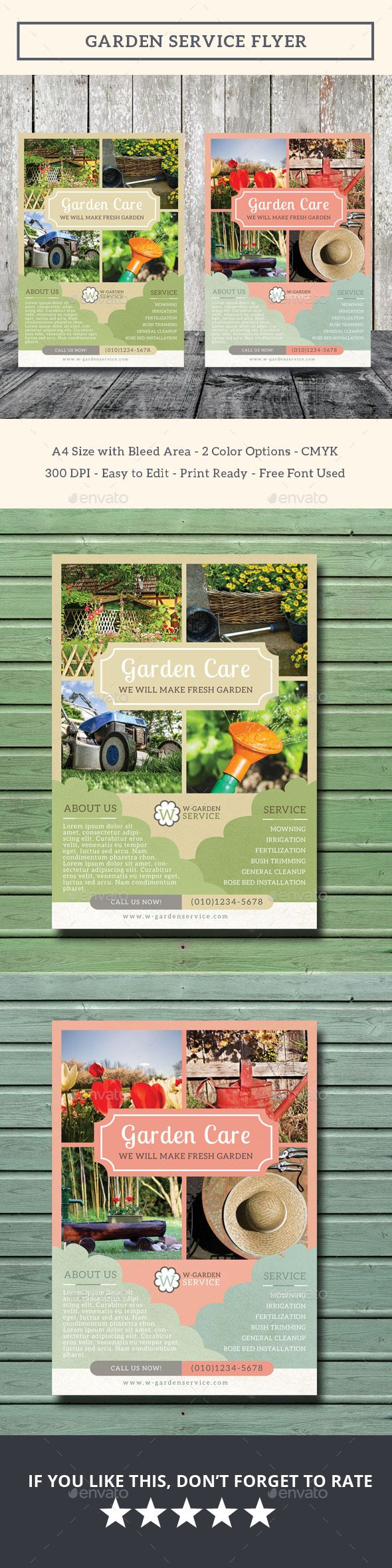 images about service flyer templates garden service flyer psd template only available here 10141