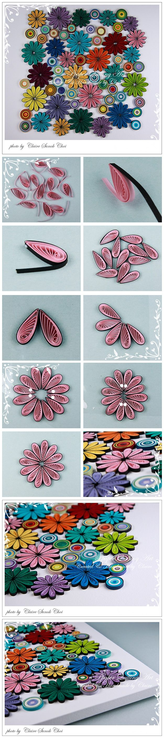 DIY - Flower quilled frame