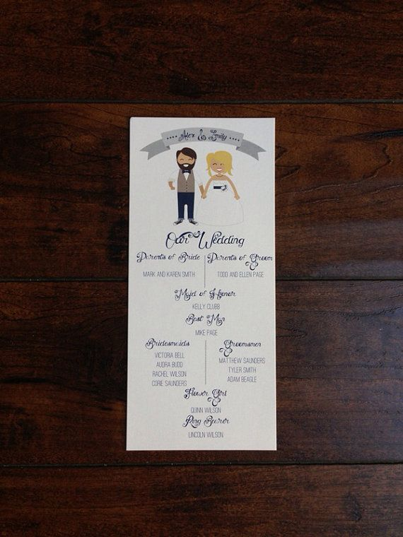 Hipster+Couple+Wedding+Menu+or+Program+by+SimpleSimonDesign