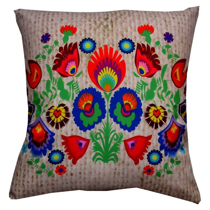 Designerska #poduszka dekoracyjna #Folk № gd41