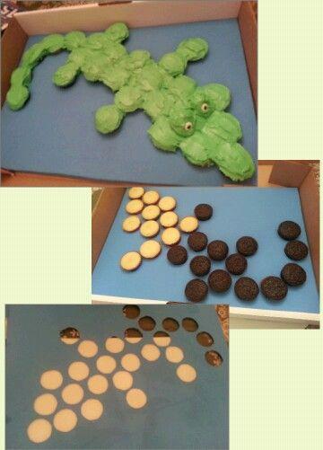Alligator Cupcakes