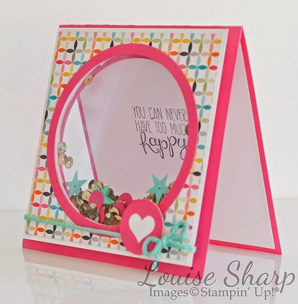 Stampin' Up! shaker card using Project Life journaling card. Just Add Ink Challenge.  By Louise Sharp