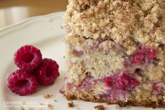 "RASPBERRY CRUMB CAKE recipe adapted from Dorie Greenspan's ""Baking ..."