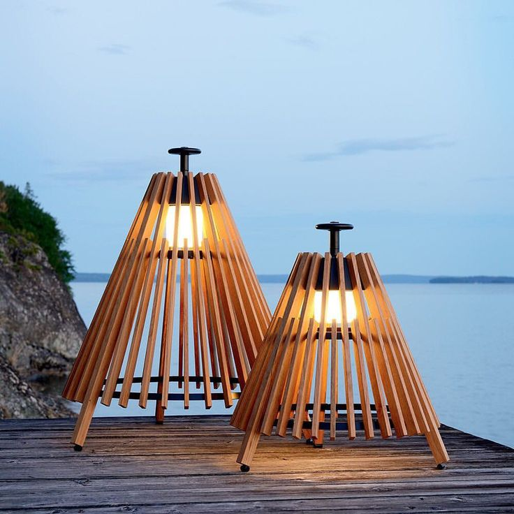 """Houseology (@thehouseologists) on Instagram: """"Accent your Scandinavian outdoor furniture with the Skargaarden Tipi Outdoor Table Lamp."""""""