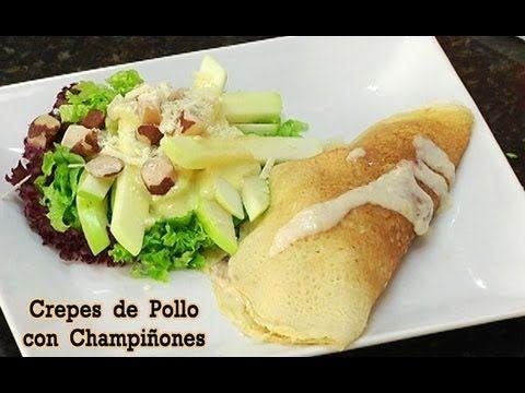 "Crepes de Pollo con Champiñones, en Tu Cocina ""Ricas Recetas"" - Canal Co..."