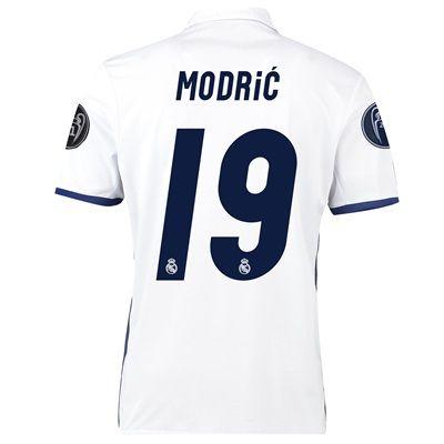 Real Madrid Home UEFA Champions League Shirt 2016-17 - Kids with Modri: with Modric 19 printing #RealMadridShop #RealMadridStore