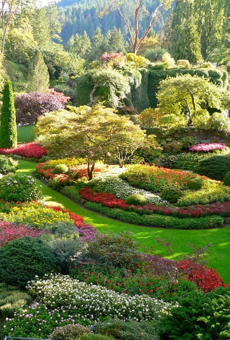 Portrait photo of Butchart Gardens, Vancouver Island, taken in September 2007