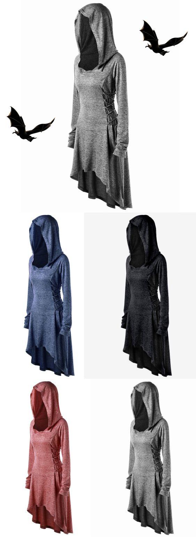 Plus Size Lace Up Dip Hem Hoodie,sammydress,sammydress.com
