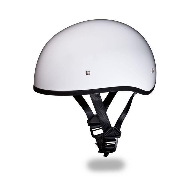 International Biker Mall  - D.O.T. DAYTONA SKULL CAP Helmet W/O visor- HI-GLOSS WHITE, $49.95 (http://www.internationalbikermall.com/d-o-t-daytona-skull-cap-helmet-w-o-visor-hi-gloss-white/)