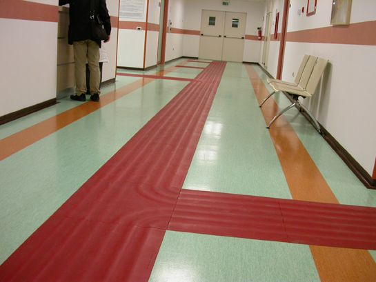 Classroom Design For Blind Students ~ This is another good example of a tactile path for the