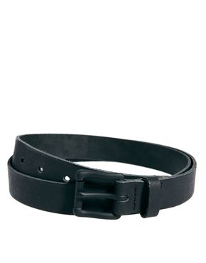 Image 1 ofASOS Black Buckle Leather Belt
