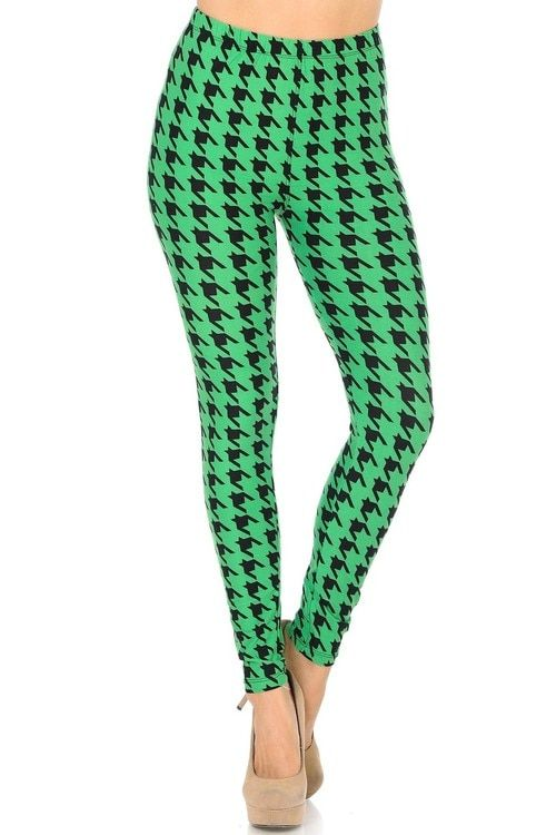 ff443c77e6c45e Our gorgeous brushed Irish Green Houndstooth Leggings are perfect for more  than just St. Patrick's Day! Made from ultra soft and comfy milk silk  fabric, ...