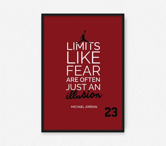 Michael Jordan 23  Chicago Bulls Inspirational par FineSportsPrints
