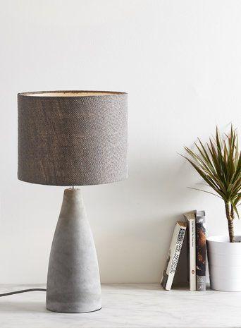 Fraser grey table lamp