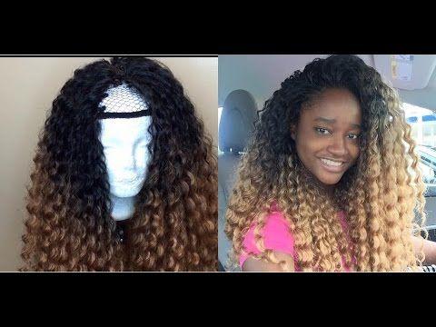 Deep Twist U-Part wig Crochet [Video] - http://community.blackhairinformation.com/video-gallery/weaves-and-wigs-videos/deep-twist-u-part-wig-crochet-video/