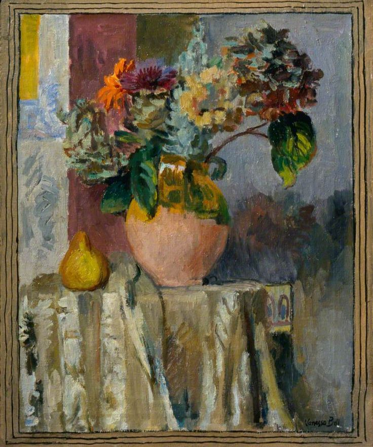 Asters and Hydrangeas by Vanessa Bell