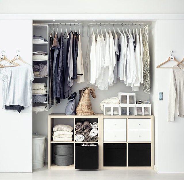 Closet featuring IKEA shelving