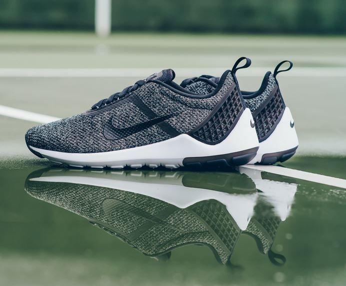 Nike Lunarestoa 2 Jaquard Qs Casual Shoes Men Black/White/Dark Grey