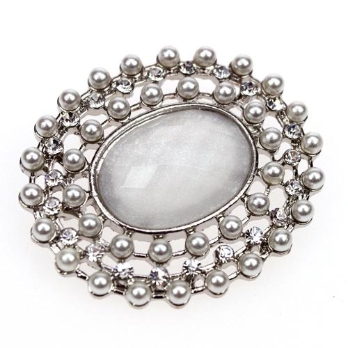 Bergen Diamante Pearl Brooch Wedding Invites Accessories Cake Decoration Hairpiece Bouquet Chair Backs Pearls