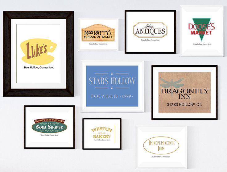 Gilmore Girls Prints, Stars Hollow Town Signs, Set of 9, 3 Sizes Included Printable Wall Art INSTANT DOWNLOAD, Gilmore Girls Poster by DesignByTannersCreek on Etsy https://www.etsy.com/listing/457039384/gilmore-girls-prints-stars-hollow-town