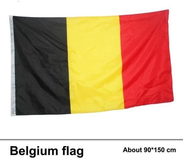 BELGIUM FLAG - FOOTBALL WORLD CUP RUSSIA 2018 - 3x5 FT