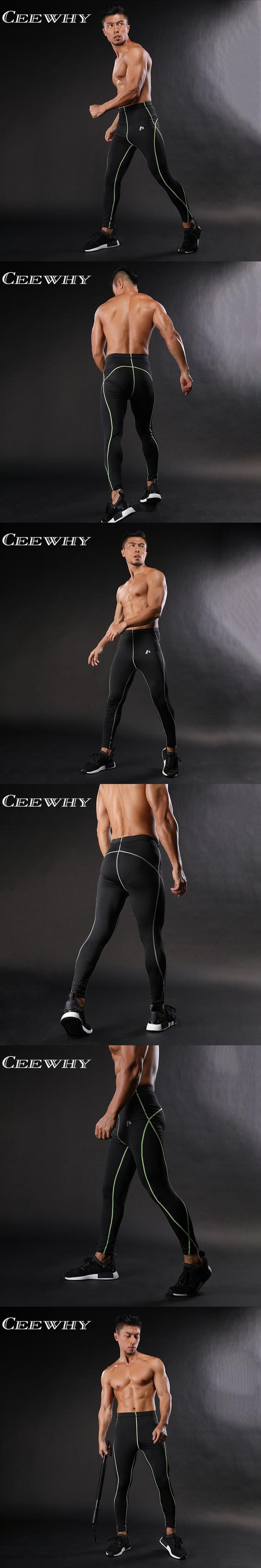 CEEWHY Skinny Leggings FLASH 3D Printed Compression Tights Pants Men Sweatpants Crossfit Fitness Trousers Male Bodybuilding