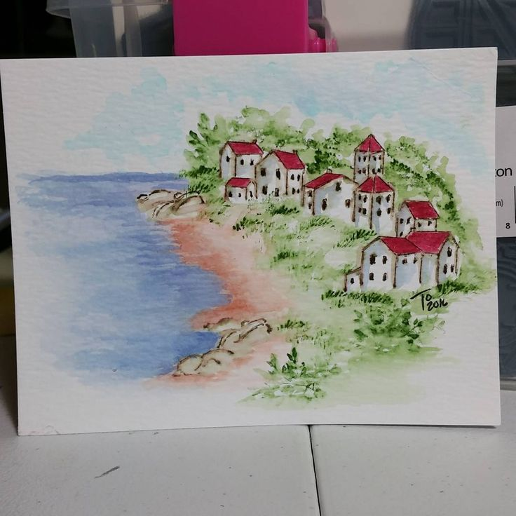 Trying the villas on the water.. #watercolortheartimpressionsway #watercolor #wishiwashere #aistamps