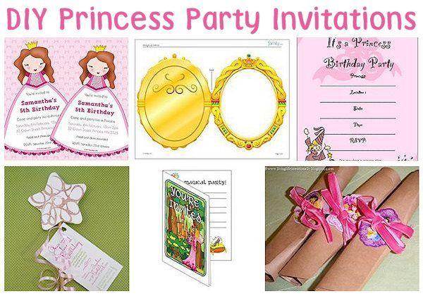 Princess Party Invitation Ideas