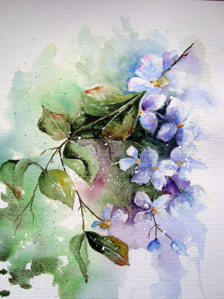 Watercolour florals art watercolor pinterest for Floral painting ideas