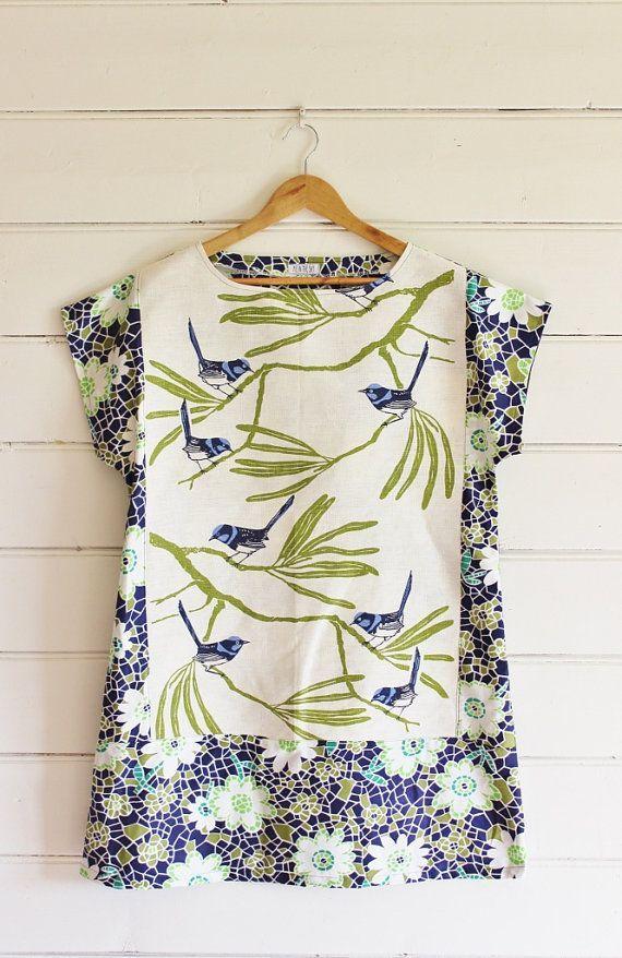Tunique torchon en lin recyclé pour femme, robe vintage de apieceofpie  #apiece…