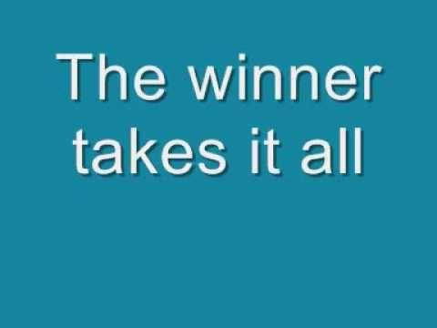 ABBA - The Winner Takes it All Lyrics (Not Karaoke - Sing Along)