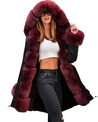 Abrigo mujer -Roiii, Дамско луксозно палто с борд от изкуствена кожа. Abrigo mujer -Roiii, con capucha con borde de piel sintética parka. Дамско луксозно палто с борд от изкустве