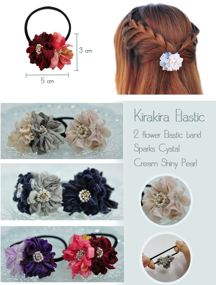 Handmade Flower Hair Elastic Band  http://www.megapui.com/index.php?id_product=119&controller=product&id_lang=1