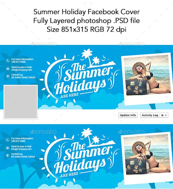 Summer Holiday Facebook Cover Template #design Download http - advertising timeline template