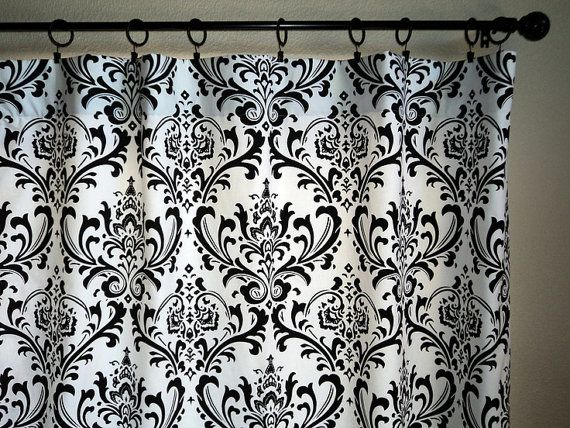 Good Black And White Damask Curtains