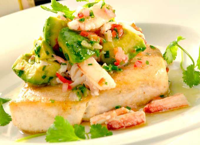 Pesce spada in salsa di aceto di riso e avocado