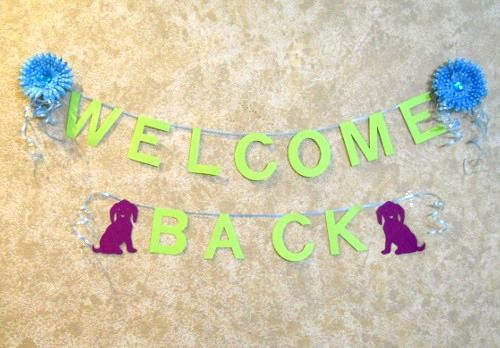 Welcome Back Sign For Coworker Crafts Pinterest
