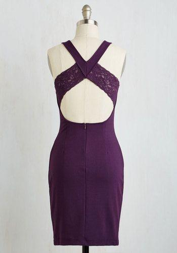 Anniversary Allure Dress in Plum   Mod Retro Vintage Dresses   ModCloth.com