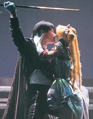 Tuxedo Mask and Super Sailor Moon from the First Stage Sailor Moon Musicals