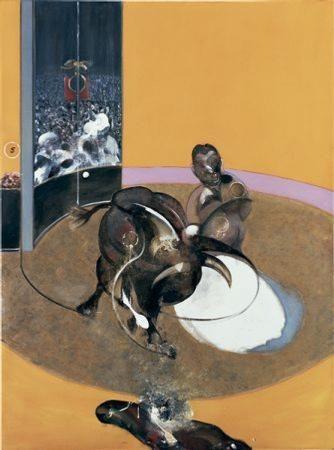 Francis Bacon, Etude pour une corrida n° 2, 1969. Alors qu'il est à Londres en 1969, Francis Bacon peint trois toiles sur le thème de la corrida, dont la n°2, fut léguée au musée par l'actrice Jacqueline Delubac avec sa très importante collection en 1997.