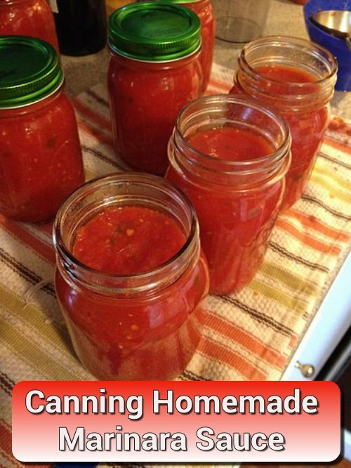 Canning Homemade Marinara Sauce - for your spaghetti, pasta, lasagna and more... #canning #homesteading