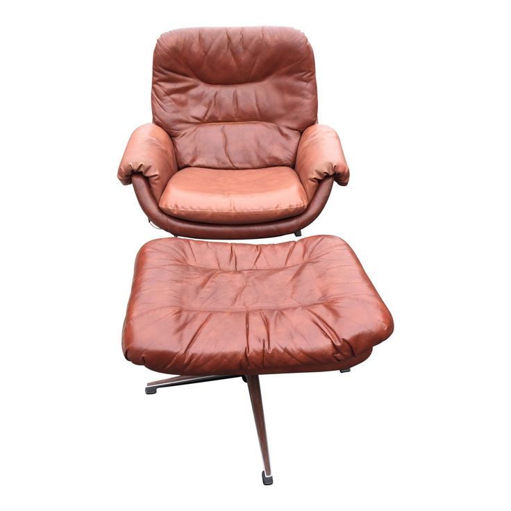 Mid Century Modern Overman Lounge Chair & Ottoman For Sale