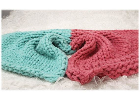 After CHRİSTMAS SALE /Chunky Knit Blanket /Pink & by TheKnitBeyond