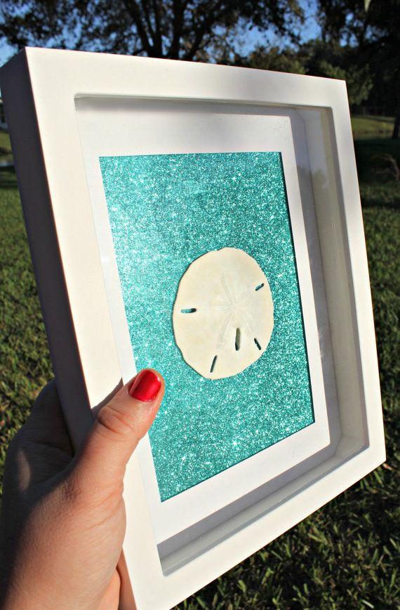 NEW Teal Glitter Sand Dollar or Starfish by FloridaSandDollarArt
