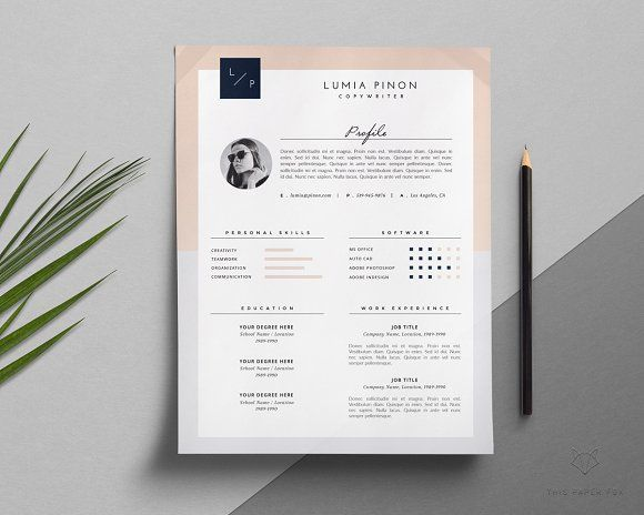 Resume + Cover Letter / Lumia by This Paper Fox on ...
