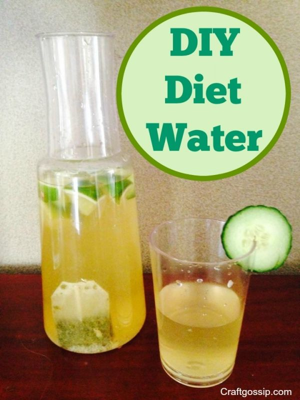 DIY Diet Water: just lemon is the easiest, but this kicks it up a notch