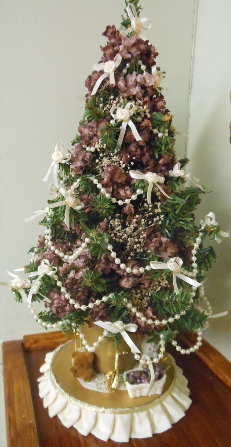 Victorian Christmas Tree Decoration Tabletop Tree Small Christmas Tree Mini…