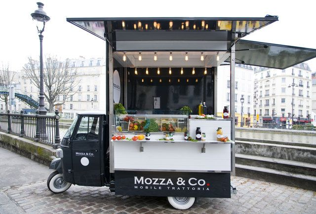A huge trend in Paris...the street food trucks.....Mozza  Co. food truck Paris.